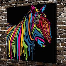 imagenes abstractas hd de animales a3497 pintura abstracta color zebra animal hd canvas print