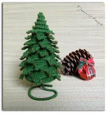 christmas tree 8 in crochet toy decor ooak christmas decor