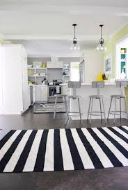Black White Striped Rug And Now For A Kitchen Rug Fashion Show Young House Love