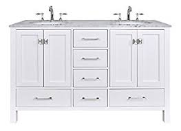 60 Double Sink Bathroom Vanity Reviews Stufurhome Gm 6412 60pw Cr 60 Inch Malibu Pure White Double Sink