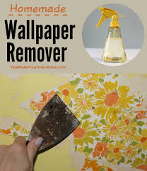 vinegar water u003d homemade wallpaper remover the make your own zone