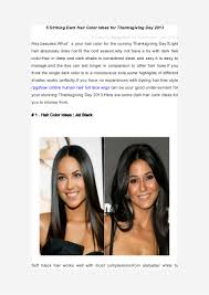 colors for thanksgiving 5 striking dark hair color ideas for thanksgiving day 2013 by rpgshow u2026