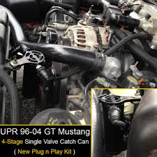 99 04 mustang exhaust 96 04 mustang gt n play sc catch can separator