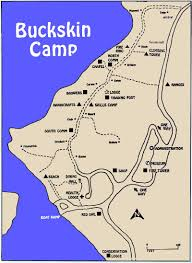 Boone Map Many Point Scout Camp Maps Buckskin Camp