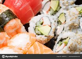 jeux de cuisine japonaise jeu de coup de macro de sushi cuisine japonaise photographie