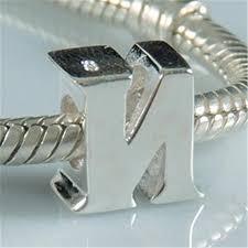 sterling pandora style bracelet images Diy alphabet n charm beads 925 sterling silver jewelry fits jpg