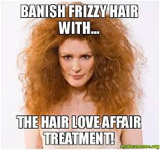 Frizzy Hair Meme - banish frizzy hair with the hair love affair treatment