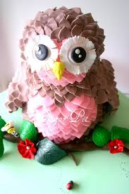 pink and brown owl cake girls u0027 birthday cakes popsugar moms