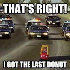 Funny Donut Meme - that s right i got the last donut kid on freeway quickmeme