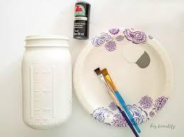 painted buffalo plaid mason jars diy beautify