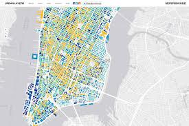 Map Of Midtown Manhattan Urban Layers Explore The Structure Of Manhattan U0027s Urban Fabric