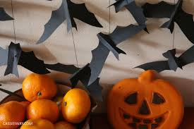 diy video thrifty halloween decorations flying paper bats garland