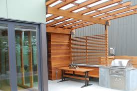 Trellis Seattle Seattle Polycarbonate Roof Patio Modern With Wood Trellis