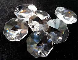Chandelier Crystal Parts 100 Pcs Clear 14mm Octagon Asfour Bag Of 100 Pcs 1080 14 C01