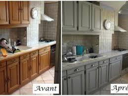 peindre une cuisine en chene rustique la cuisine relookée cuisine en chêne gris clair et sombre
