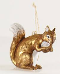 cody foster christmas ornament figure woodland squirrel hand blown