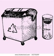 cartoon recycling bin stock images royalty free images u0026 vectors