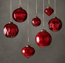 mercury glass ornament collection