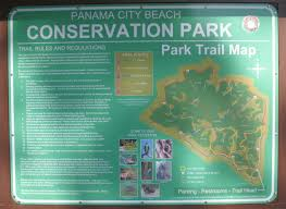 Panama City Beach Florida Map by Conservation Park Trail Map Jpg