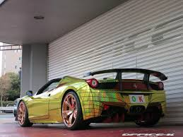 Ferrari 458 Gold - the 458