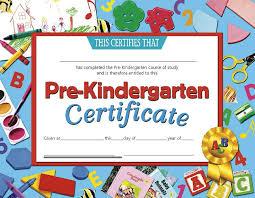 kindergarten certificates certificates pre kindergarten 30 pk 8 5 x 11 inkjet laser h va699