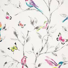 buy john lewis hummingbird trees wallpaper multi john lewis