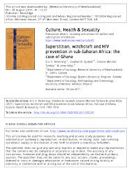 common superstitions superstition witchcraft and hiv prevention in sub saharan africa