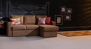 Sectional Sofa Bed With Storage Urban Ladder Kowloon Three Seater Sectional Sofa Bed With