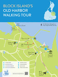 Map Walking Distance Block Island Walking Tour Map Block Island Rhode Island