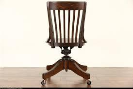 oak antique 1910 adjustable swivel office or library desk chair