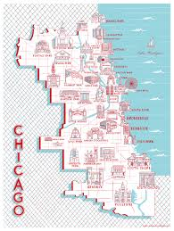 Chicago Trolley Map by Here U0027s A Chicago Neighborhood Map Of Notable Landmarks Chicago