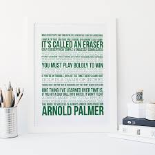 character quote sports arnold palmer quotes golf print sports typography golf