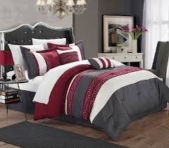 Modern Bedding Sets Amazon Com Chic Home Carlton 6 Piece Comforter Set Queen Size