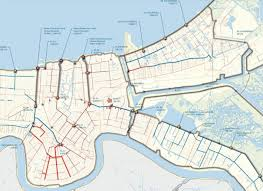 Maps New Orleans by Map Du Jour New Orleans Drainage System Map 2013 Nolagraphy