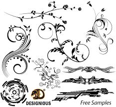 vector sles floral tech shapes and tribal designs