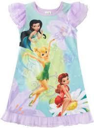 disney fairies tinkerbell kids toddler girls nightgown sleepwear