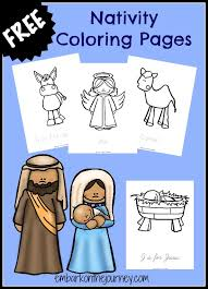 nativity coloring pages crafts kids