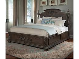 Klaussner Home Furnishing Klaussner International Versailles Queen Bed With Bun Feet And