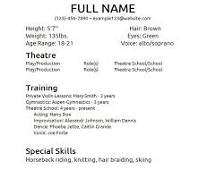 amazing list of special skills for acting resume ideas simple