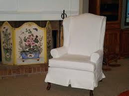 white wing chair slipcover white wing chair slipcover wing chair slipcovers