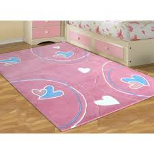 Kids Pink Rugs by Hearts And Swirls Pink Childrens Floor Rugs Free Shipping