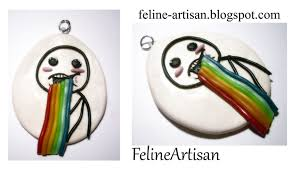 Puking Rainbow Meme - puking rainbow meme pendant by felineartisan on deviantart