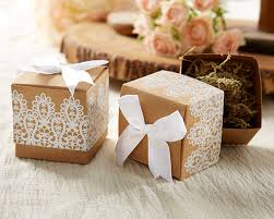 favor boxes rustic and lace kraft favor box rustic wedding favors by kate aspen