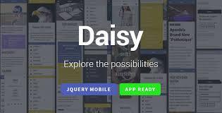 daisy mobile web u0026 app template webapp phonegap cordova