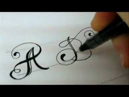 fancy letters how to design your own swirled letters youtube