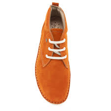 womens desert boots uk finn comfort plymouth 2437 womens boot in orange suede by macsamillion