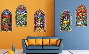 zelda wind maker stained glass wall mural decals video game zelda wind maker stained glass wall mural decals
