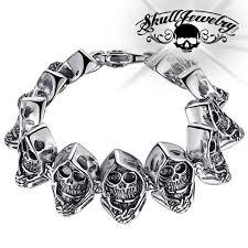 bracelet skull images Grim reaper 39 skull bracelet american owned jpg