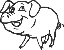 clipart smiling pig