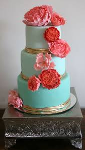 coral wedding cakes best 25 coral cake ideas on mint coral weddings blue